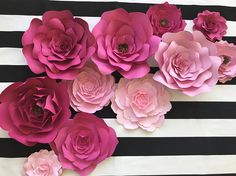 This pretty cool idea of decorating the wall with paper flowers paper flower wall decor for nurseries bridal or baby shower decor these flowers will make any space look like a showcase use them in a baby nursery mightylinksfo