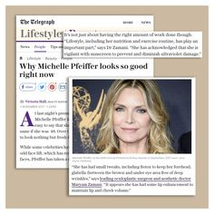 "My ethos has always been ""Less is always more"" and Michelle Pfeiffer is a great example of getting subtle but effective tweaks done. Thank you @telegraphfashion and @vhallbeauty. Read here- http://www.telegraph.co.uk/beauty/people/michelle-pfeiffer-looks-good-right-now/ #skinexpert #drmaryamzamani #exercise #nutrition #botox #cosmeticsurgeon #fillers #michellepfeiffer #telegraph #wrinkles #beautifulskin"