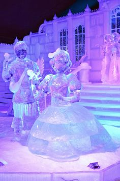 Snow White Disney Princess Ice Sculpture.