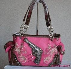 Christin Daniels - this made me think of you! The Pink Pistol Purse