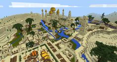 There is an Arabic city installed on this map. It is located in a desert biome, which has a large city and other nice terrains. Another impressive feature of the map is the existence of an old temple. It locates at the city's center. The creator of this map is Jeracraft, a skilled YouTuber. With... https://mcpebox.com/arabian-desert-city-creation-map-minecraft-pe/