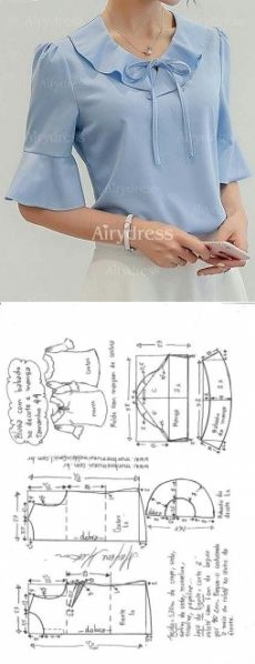 Amazing Sewing Patterns Clone Your Clothes Ideas. Enchanting Sewing Patterns Clone Your Clothes Ideas. Sewing Jeans, Sewing Blouses, Sewing Diy, Blouse Patterns, Clothing Patterns, Blouse Designs, Tops Diy, Diy Clothes, Clothes For Women