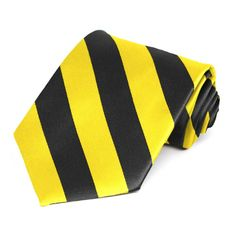 Yellow and Black Striped Tie. $8.50 each