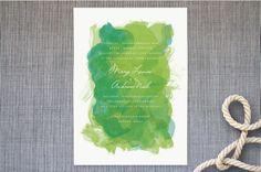 watercolor gala invite