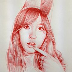 regram @artofalvin Flashback..Tae-yeon 2013 I missed all my drawings