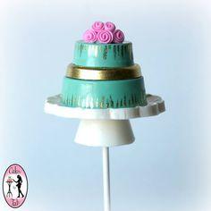 Pretty Turquoise Cake Pop