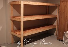 diy Design Fanatic: DIY STORAGE - Perfect shelves for those plastic totes!