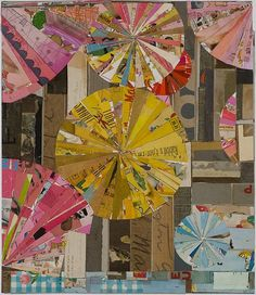 Lance Letscher, Night Light 2013, Collage on board