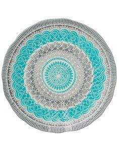 RANGOLI BIG PLATE turquoise