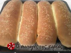 Το τέλειο ψωμί της πεθεράς μου #sintagespareas Hot Dog Buns, Hot Dogs, Greek Recipes, Biscotti, Recipies, Baking, Breads, Foods, Recipes