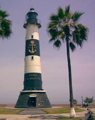 Faro de la marina, MirafloresThis is the original Punta Coles lighthouse disassembled and rebuilt here in 1973 Peru-12.123675, -77.040156