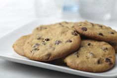 A 4-Step Recipe for Dairy-Free Chocolate Chip Cookies, substitute coconut oil for dairy-free margarine, cut brown sugar in half