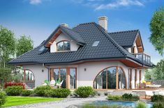 Single story with attic house plan net area 179.94 square meters