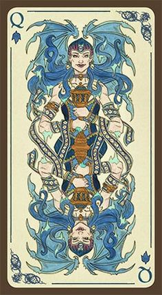 Tarot of Loka by River Horse. The Queen of Water.