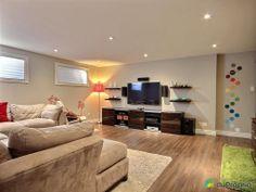salle familiale de rve voir lachenaie duproprio tapis vert lime peinture beige meuble - Salon Vert Et Beige