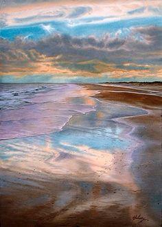 Watercolor by John Hulsey (Ocean Light series - Isle of Palms)
