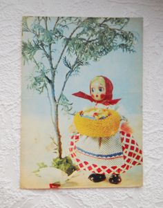 Old Greeting Card Poultry Breeder Soviet Post Mom Birthday Card Antique Card Cute Illustration USSR Postcard Daughter Birthday Card 1968 by DereviyVintage on Etsy