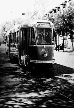 Tranvías de Madrid (Hasta 1975) - Página 2 Foto Madrid, Rail Transport, Baja California, Historical Pictures, Valencia, Transportation, Nostalgia, Old Things, Train Stations