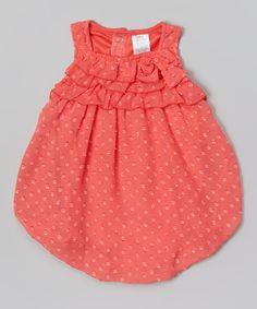 Baby Essentials Pink Floral Bubble Bodysuit - Infant by Baby Essentials #zulilyfinds