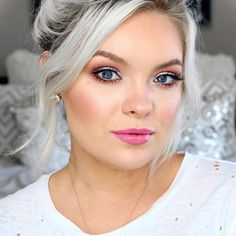 How gorgeous is Brianna Fox wearing all Makeup Geek Eyeshadows? We absolutely adore this sweet 'Girl Next Door' look she put together using Makeup Geek Signature Eyeshadows in Vanilla Bean, Cupcake, Purely Naked, and Country Girl + Makeup Geek Foiled Eyeshadow in Starry Eyed.