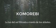 Komorebi: La luz del sol filtrada a través de los árboles. (Japonés)