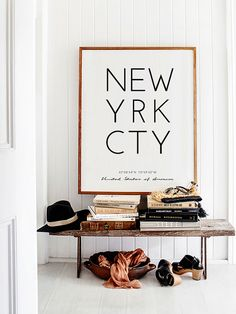 Coordinates Gift New York City NYC Poster NYC by printabold