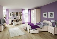 Violet & White Bedroom