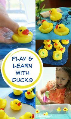Play & Learn with Ducks~Duck activities for preschool and kindergarten Preschool At Home, Preschool Lessons, Preschool Classroom, September Preschool, Preschool Farm, Preschool Spanish, Farm Activities, Spring Activities, Preschool Activities