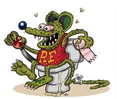rat fink | Rat Fink on Toilet by ~Jeffaroni on deviantART