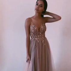 Backless Tulle Beaded Prom Dresses Party Dresses with Spaghetti Straps - Informationen zu Backless Tulle Beaded Prom Dresses Party Dresses with Spaghetti Straps Pin - Matric Dance Dresses, Senior Prom Dresses, Prom Outfits, Pink Prom Dresses, Event Dresses, Prom Party Dresses, Ball Dresses, Formal Prom Dresses, Cotillion Dresses