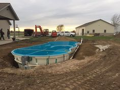 "November 21st.  That's the perfect time to install your new Leisure Pools ""Riviera 34"" composite fiberglass swimming pool if you're in the St Louis area. Congratulations to Pisces Pools Plus (618-227-8281) for helping another family enjoy their life of leisure this holiday season.  Here, in Houston, we're going to be in the 70s so there's nothing stopping you from having your own swimming pools delivered now.  Happy Thanksgiving!"