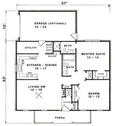 House layouts, cottage floor plans, ranch house plans, cottage plan, new ho The Plan, How To Plan, Cottage House Plans, Small House Plans, Farm House, Small Country Homes, Small Homes, 2 Bedroom House Plans, Cabin Floor Plans