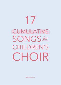 17 Cumulative Songs for Children's Choir Choir Songs, Silly Songs, Kids Songs, Songs For Children, Fun Songs, Singing Games, Singing Tips, Rhythm Games, Fun Games