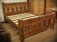 Reclaimed Wood Bed Frame | Found on notonthehighstreet.com