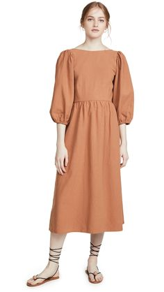Rachel Pally Linen Canvas Roma Dress In Auburn Rachel Pally, Catherine Deneuve, Auburn, Designer Collection, Cold Shoulder Dress, Canvas, Fabric, Cotton, Clothes