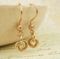Brass Earrings - Little Cutties. $10.00, via Etsy.