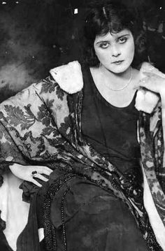 Portrait of Theda Bara, 1920's.