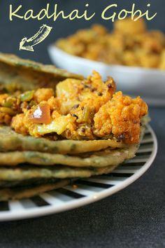 Merry Tummy: Kadhai Gobi, Spicy Cauliflower Side Dish