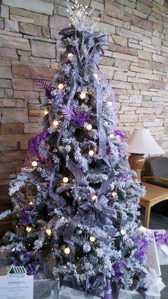 Purple pops at Christmas