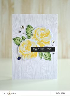 Thank you by @aimesgray. Featuring @altenew  Vintage Flowers & co-ordinating dies and the Label Love stamp set.