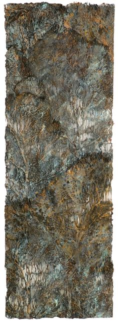 Lesley Richmond- Cotton/silk fabric, heat reactive base, metal patinas