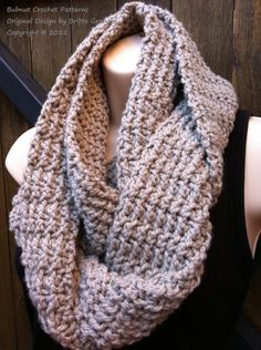 Easy Peasy Infinity Scarf Crochet Pattern No502 by BBfromOz