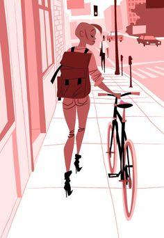 """Her New Fixie"" by Thorsten Hasenkamm"