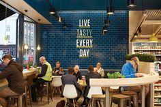 Design showcase: Centra rethinks convenience stores in Ireland - Retail Design… Design Café, Cafe Design, Store Design, Food Retail, Retail Shop, Restaurant Design, Restaurant Bar, Luxury Restaurant, Limerick Ireland