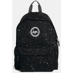 Hype Speckle Backpack (€34) ❤ liked on Polyvore featuring bags, backpacks, lightweight backpack, planet backpack, light weight backpack, lightweight rucksack and day pack backpack