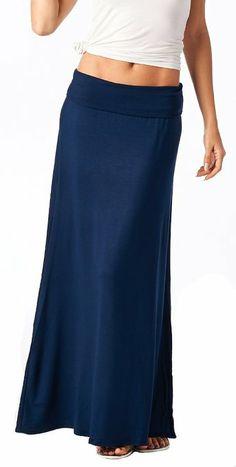 06/14 - Popana Super Soft Fold Over Maxi Skirt - Made in USA