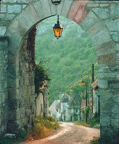 Arched Entry into Dordogne France, one of the most beautiful