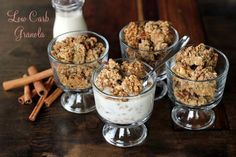 low carb granola, gluten free granola, sugar free granola, paleo granola, dairy free granola, wheat belly granola, weight watcher granola, grain free