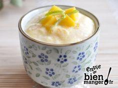 Mousse à la mangue, gingembre et citron vert