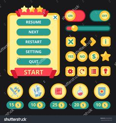stock-vector-medieval-video-game-mobile-application-user-interface-template-vector-illustration-340250492.jpg (1500×1600)